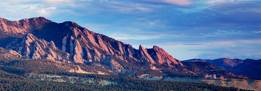 NCAR Mesa Lab and Flatirons in Boulder, CO