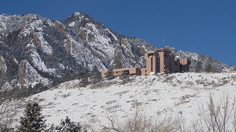 NCAR Mesa Lab in the winter